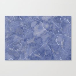 Marble Texture - Icy Blue Marble Canvas Print