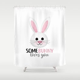 bunnies shower curtains society6. Black Bedroom Furniture Sets. Home Design Ideas
