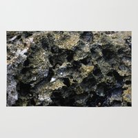 rocky Area & Throw Rugs featuring Rocky by C. Wie Design