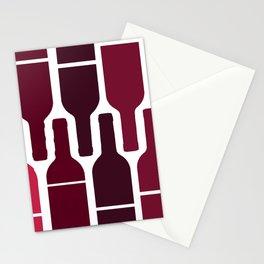 wine wine stripe Stationery Cards