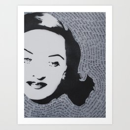 Bette Davis All About Eve American Film Fasten your seat belts hollywood star Art Print