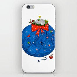 Christmas Cat iPhone Skin
