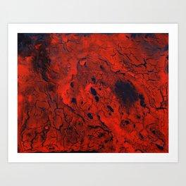 Lava Art Print