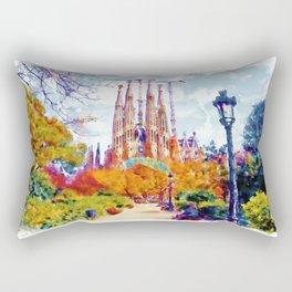 La Sagrada Familia - Park View Rectangular Pillow