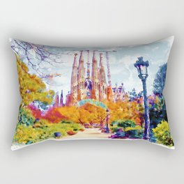 La Sagrada Familia - Park View Rectangular Pillow