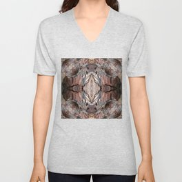 Petrified Wood in Abstract Unisex V-Neck