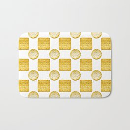 Savoury Biscuits Polka Dot Pattern Bath Mat