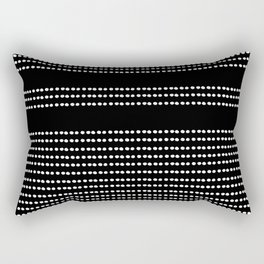 🤍, Spotted, Mudcloth, Black and White Print, Boho Wall Art Rectangular Pillow