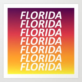 Florida Tequila Sunset Art Print