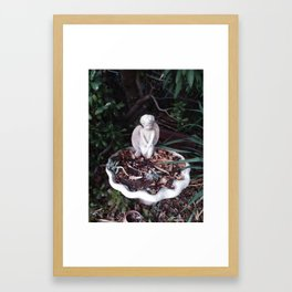 Angel Birdbath Framed Art Print