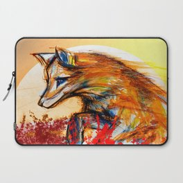 Fox in Sunset II Laptop Sleeve