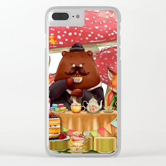 Autumn tea party #3 Clear iPhone Case