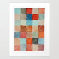 Patched Art Print