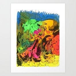 Neon Magic Art Print