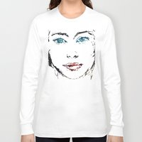 no face Long Sleeve T-shirts featuring face by Artemio Studio