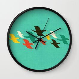 Birds are flying Wall Clock
