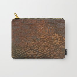 Stenciled wall Carry-All Pouch