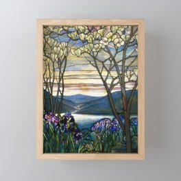 Louis Comfort Tiffany - Decorative stained glass 5. Framed Mini Art Print