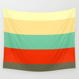 Retro Color Palettes Wall Tapestry