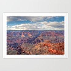 Grand Canyon Evening Display Art Print