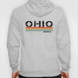 Retro Vintage Stripes Ohio Gift & Souvenir Graphic Hoody