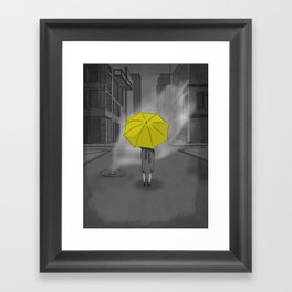 The Girl With The Yellow Umbrella - HIMYM Framed Art Print