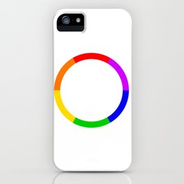 LGBT Rainbow Circle iPhone Case