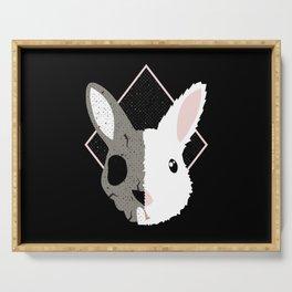 Skull Bunny Serving Tray
