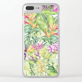 Tropical Garden 1A #society6 Clear iPhone Case