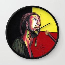 Nina Simone Painting Wall Clock
