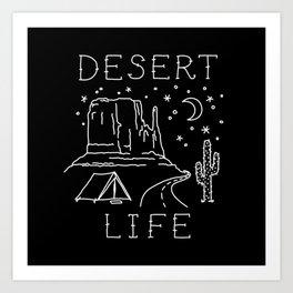 Desert Life Art Print