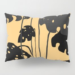 gold and black leaves Pillow Sham