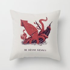 squid goals #squadgoals shirt Throw Pillow