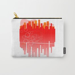 Abstract Guitar City Carry-All Pouch