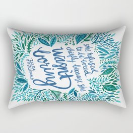 Zelda Fitzgerald – Blue on White Rectangular Pillow