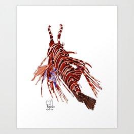 Spotfin Lionfish 2 Art Print