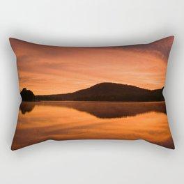Dawn on Fire: Lac du Saint Sacrement Rectangular Pillow