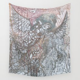 The Winged Octopus Tamer Wall Tapestry