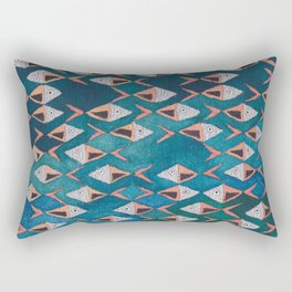 School of Fish Pattern Rectangular Pillow