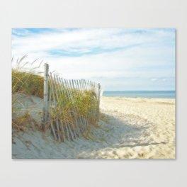 Sandy Beach, Ocean, and Dunes Canvas Print