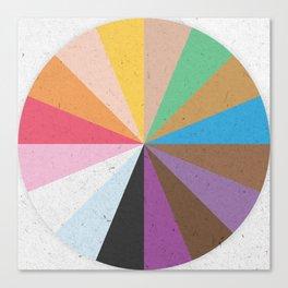 Rainbow Wheel of Inclusivity Canvas Print