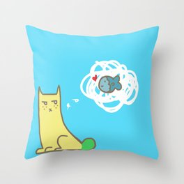 Sour Puss' Lil Friend Throw Pillow