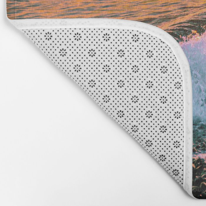 Sunset splash Bath Mat