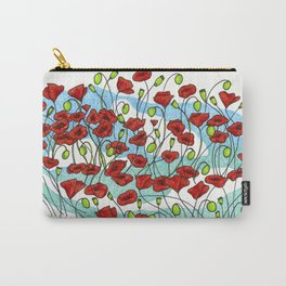 Field Poppies Carry-All Pouch