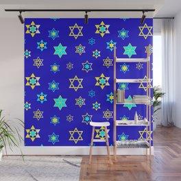 Hanukkah Holidays Celebration of Miracles Pattern Wall Mural