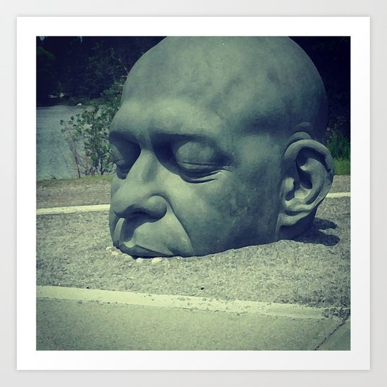 Big Head, Canmore Art Print