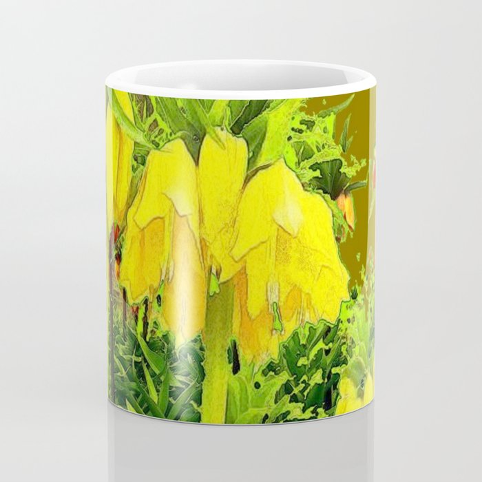 YELLOW CROWN IMPERIAL WATERCOLOR  FLOWERS Coffee Mug