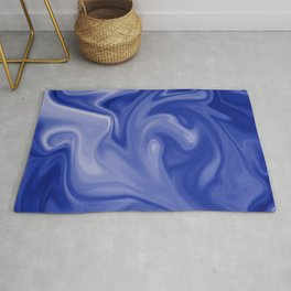 Marble Blues White Rug