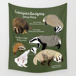 Badgers Meles Genus Poster Wall Tapestry