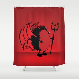 bad hedgie Shower Curtain